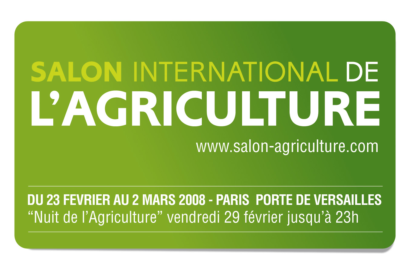 Salon de l 39 agriculture for Porte v salon de l agriculture
